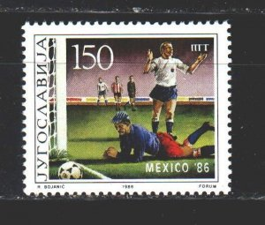 Yugoslavia. 1986. 2153 from the series. Football. MNH.