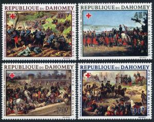 Dahomey C77-C80,MNH.Michel 352-355. Red Cross 1968.Battles.By Philippoteaux,