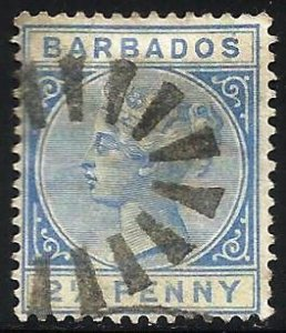 Barbados 1882 Scott# 62 Used