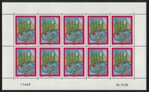 New Caledonia Christmas Symbols of New Caledonia Sheetlet of 10v SG#1455 MI#1479
