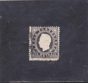 PORTUGUESE INDIA D. LUIS I (1886) 1 1/2 R. AF # 132