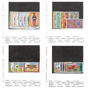 Lot of 101 Mongolia MNH Mint Stamps Scott Range 1492 - 1844 #145376 X R