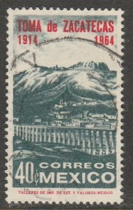 MEXICO 958, 50th ANNIVERSARY OF THE BATTLE OF ZACATECAS. USED.VF.  (1208)