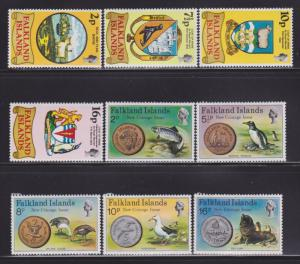 Falkland Is 241-249 MNH nice colors cv $ 18 ! see pic !