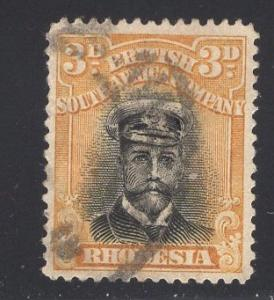 Rhodesia    1913  used  king George V   3p