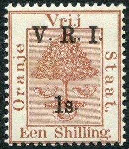 ORANGE FREE STATE-1900 1/- on 1/- Brown Sg 121 LIGHTLY MOUNTED MINT V33118