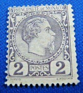 MONACO 1885  -  SCOTT # 2 or 2a       USED     (XM3)