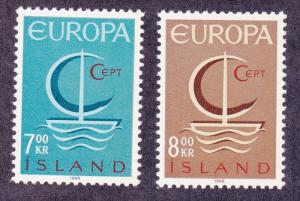 Iceland 384-85 MNH OG 1966 EUROPA CEPT Set Very Fine