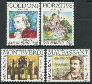1993 San Marino 1551-1554 Paintings 4,20 €