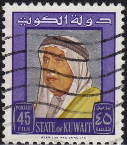 Kuwait - 1964 - Scott #236 - used - Sheik Abdullah