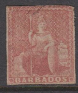 Barbados Used  - Perf 10 trimmed to look like #4