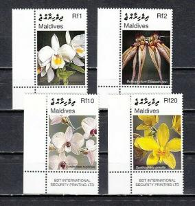 Maldives, Scott cat. 2927-2930. Orchids issue.