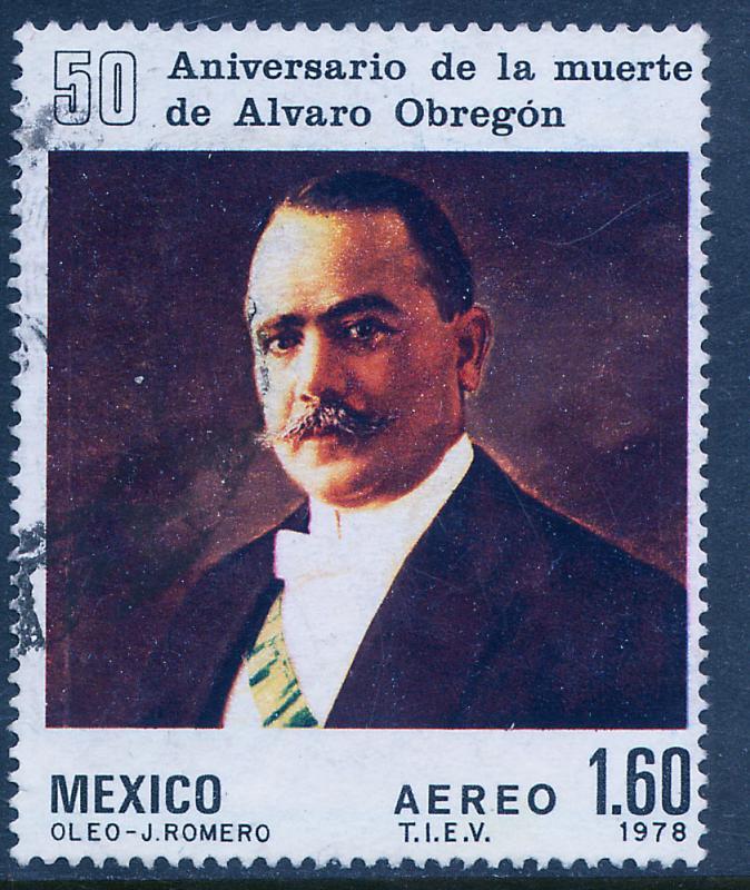 MEXICO C573, 50th Anniv of death of Pres Alvaro Obregon USED. VF. (1117)
