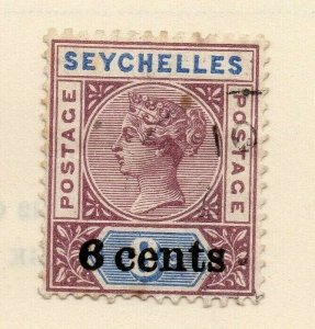 Seychelles 1900 Early Issue Fine Used 6c. Surcharged 326868