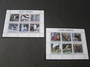 St. Thomas & Prince Islands 2003 Sc 1483-4 Bird set MNH