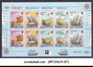 JERSEY 2000 THE STAMP SHOW MILLENNIUM MARITIME HERI. SHIPS TRAFFIC LIGHT MS MNH