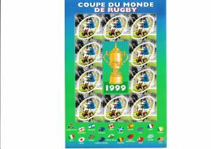France - RUGBY WORLD CUP - Souvenir Sheet  - MNH