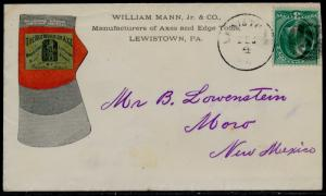 #184 ON MULTICOLOR ADVT COVER W/ NEG S CANCEL TO NEW MEXICO BQ6471