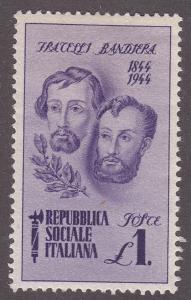 Italian Socialist Republic 33 Bandiera Brothers 1944