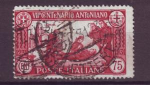 J21479 Jlstamps 1931 italy used #263 st anthony death