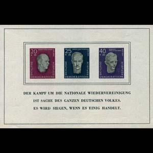 DDR 1957 - Scott# B35a S/S Leaders NH