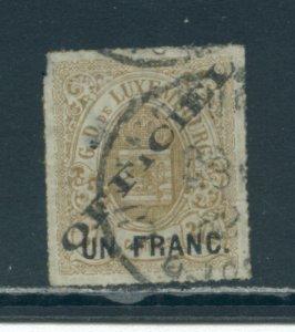 Luxembourg O10 Used  cgs