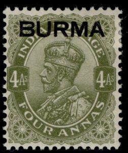 BURMA GVI SG9, 4a sage-green, M MINT.