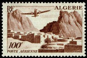 Algeria #C9  MNH - 100Fr Plane Over Village (1949)