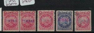 Bolivia 5 stamps H/S Timbre MOG (7edb)