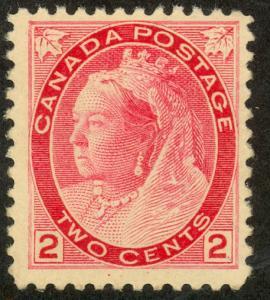 CANADA 1898-1902 QV 2c Carmine Die I Sc 77 MNH