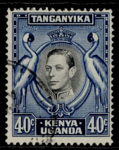 KENYA UGANDA TANGANYIKA GVI SG143, 40c black & blue, FINE USED.