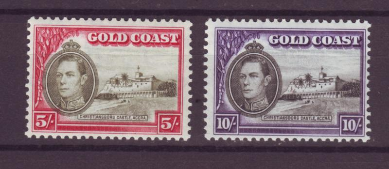 J14104 JLstamps 1938-41 gold coast hv,s of set mh #126-7 king, views