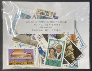 Grenada Approximately 215 Stamps Most CTO