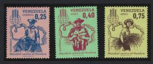 Venezuela Freedom from Hunger 3v SG#1778-1780