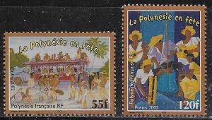 French Polynesia Scott #'s 840 - 841 MNH
