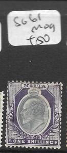 MALTA  (P2511B) KE 1/-  SG 61  MOG