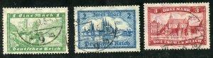 Germany Scott 337-39 UFH - 1924 Castles/Cologne - SCV $13.50
