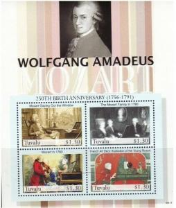Tuvalu - Wolfgang Mozart Anniversary On Stamps TUV0611