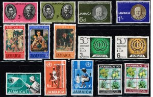 JAMAICA STAMP MNH STAMPS IN PROTECTOR LOT  #2
