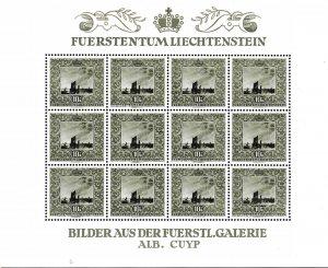 Liechtenstein 1951 Scott B19-B21 ART/Paintings Sheets of 12 Stamps. Stamps XF/NH