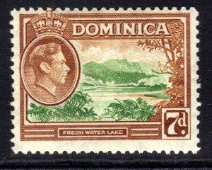 Dominica 1938 - 47 KGV1 7d Fresh Water Lake MM SG 105a ( B849 )