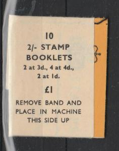 GB 1967/8 10p booklet, Jan 68, SG N31p with label around