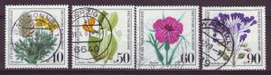 J473 jls stamps 1980 germany used scn b577-80, set/4 flowers