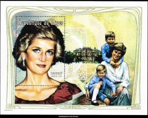 Niger MNH S/S 965 Diana With William & Harry 1997