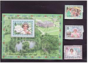 Montserrat - Princess Diana -  Set & S/S MNT962-5