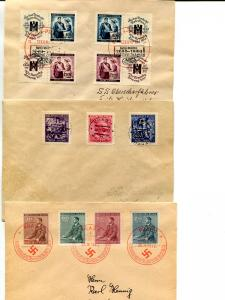 3 Occupation of Czechoslovakia covers  - Lakeshore Philatelics