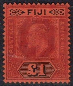 FIJI 1906 KEVII 1 POUND