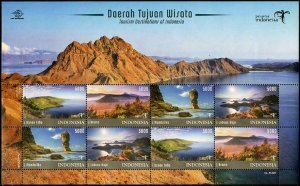 HERRICKSTAMP NEW ISSUES INDONESIA Tourism 2017 Sheetlet of 8