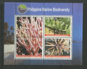 STAMP STATION PERTH Philippines #2615 Coral Souvenir Sheet MNH CV$8.00