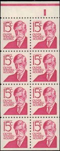 United States #1288Bc, Complete Set, Booklet Pane of 8, 1968, Never Hinged